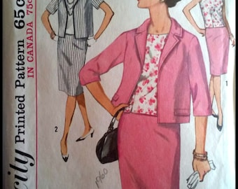 """Simplicity 5320  Misses' & Women's Suit And Overblouse in Half Sizes  Bust 35"""""""