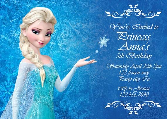 Items similar to Frozen birthday invitation - Disney's Frozen ...
