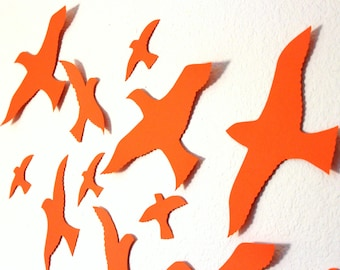 Flying Bird Wall Art, Bird 3D Wall Decor, Bird Wall Art, Nursery, Boys Room Decor, Wedding, Party, Handmade By MyDreamDecors, Art, Girls