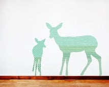 Unique forest wall decals related items etsy for Appliqu mural autocollant