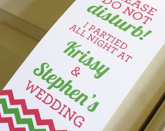 Hotel Wedding Door Hanger - Chevron