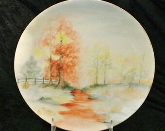 Hand Painted Porcelain Plate / Austrian