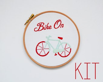 "Embroidery Kit ""Bike On"""