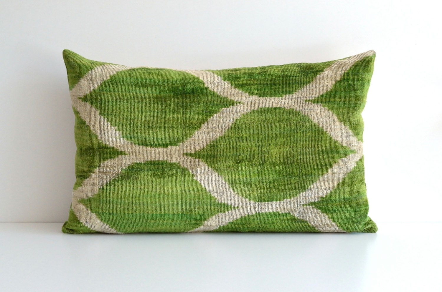 Green Couch With Throw Pillows : Green Velvet Pillow Ikat Pillows Couch Pillow Throw by pillowme