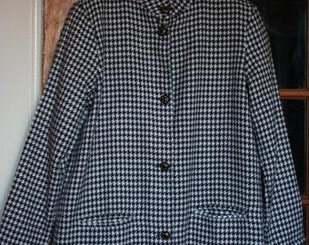 French Vintage Houndstooth Jacket Blazer