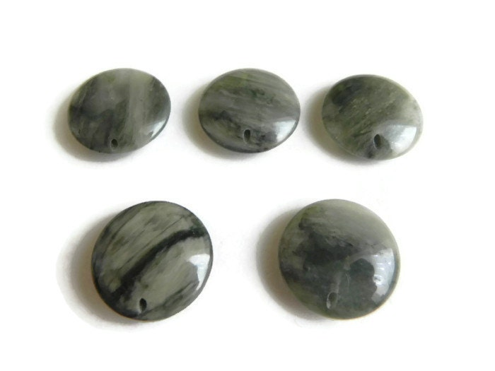 grey quartz gemstone flat grey quartz 20mm