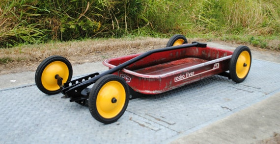 Low Rider Flyer Original Ooak Lowered Radio Flyer Wagon Art