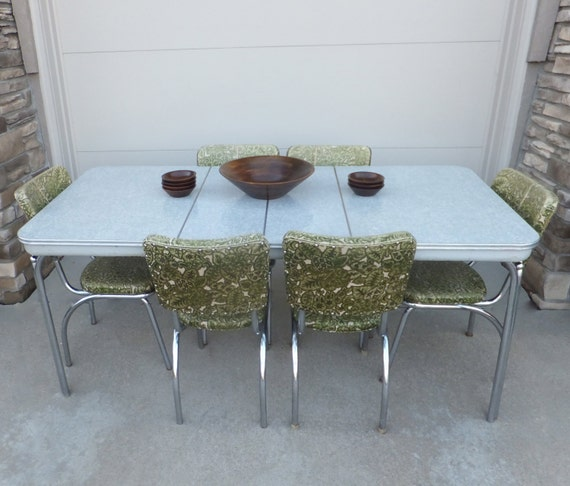 SOLD To JENNIE Formica & Chrome Table 2 Leaves Mid Century