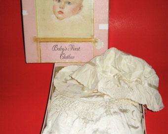 Vintage Baby Breck Preparations Christening/Baptism Coat & Hat