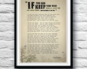 If, Rudyard Kipling, Poetry art, Wall decor, Poem poster, Gift for him