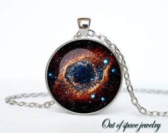 Helix Nebula pendant Helix Nebula necklace Helix Nebula jewelry galaxy universe stars space gift for men for women