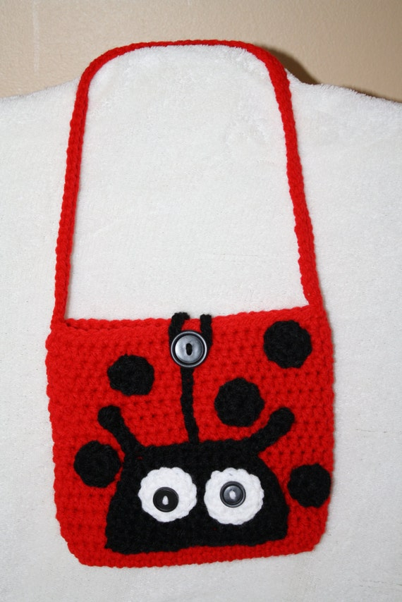 Crochet Purse For Child : Ladybug purse. Child purse. Crochet. Handmade.
