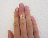 Adjustable Sterling Silver Toe Ring, Also Midi Ring, knuckle Ring.