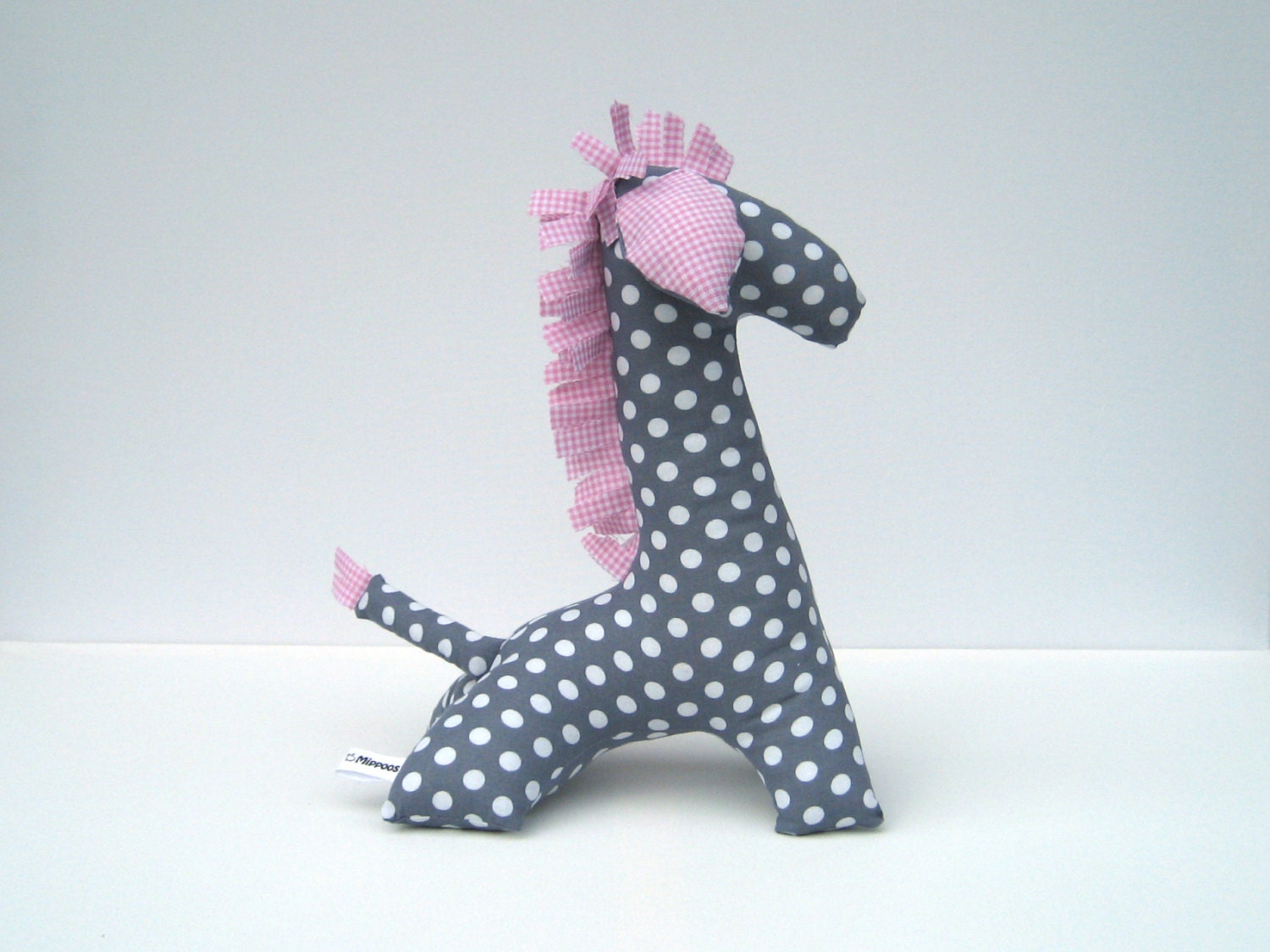 Pink Grey Stuffed Animal Giraffe Modern Pink And Grey Nursery