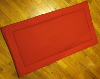 Custom Made Organic Dog Crate Pad - Washable- Made to Order in 2 weeks - Sizes Small Medium Large