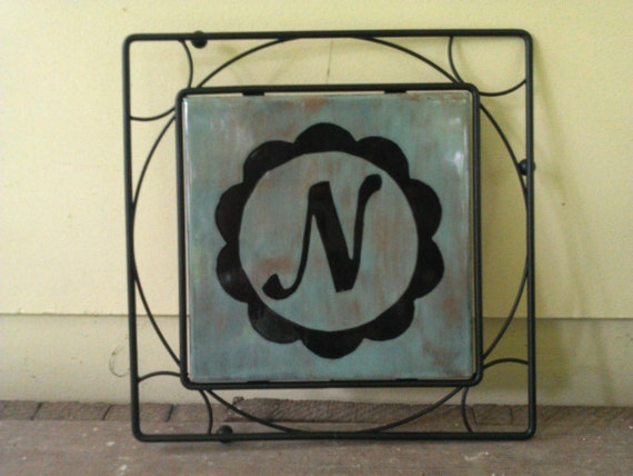 Personalized Monogram Trivet Plate