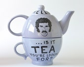 Hello Is It Tea You're Looking For - Lionel Richie Tea for One Teapot in Pastel Blue Lilac