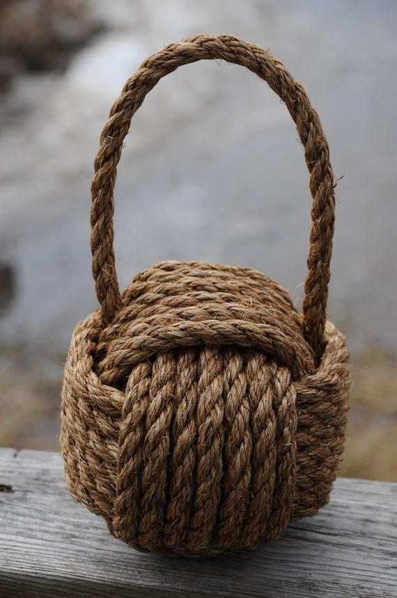 Doorstop nautical decor heavy rope doorstop nautical - Nautical rope decorating ideas ...