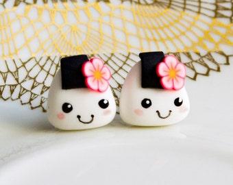 sweet rice balls earrings miniature food