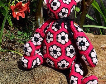 Custom African Flower Bear