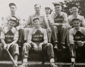 Original 1940's Chicago Woodlawn Demolay Baseball Team Snapshot Photo