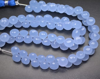 Sale-AAAA Color Change Quartz-7 Inch-8mm-Beautiful Levender Blue Quartz faceted Onion Briolette Beads-42 Beads