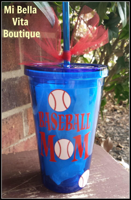 baseball mom tumbler personalized 16 oz acrylic tumbler