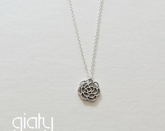 Rose Necklace, Small Necklace, Everyday Necklace, Simple Necklace, Bff Necklace, Dainty Necklace,