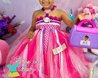Doc Mcstuffins Dress- Doc Mcstuffins Tutu Dress- Doc Mcstuffins tutu- Doc Mcstuffins Birthday Dress