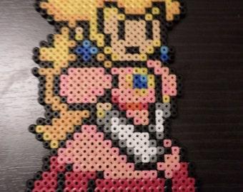 Peach - Hama Bead Sprite - Paper Mario