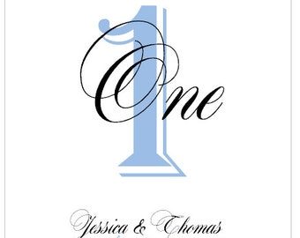 Personalized Wedding Table Numbers 4x6