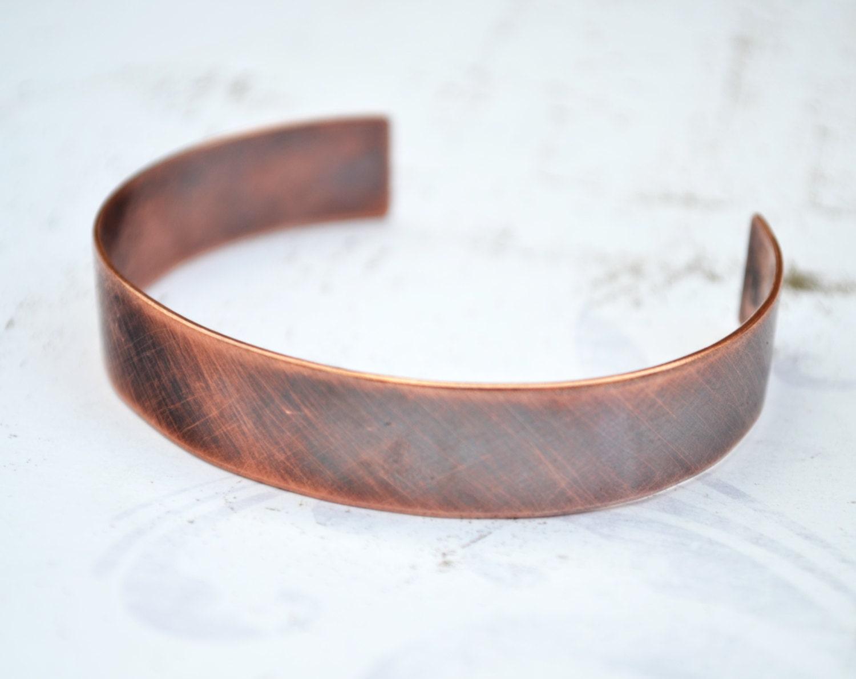 copper cuff bracelet for men personalized hand stamped. Black Bedroom Furniture Sets. Home Design Ideas