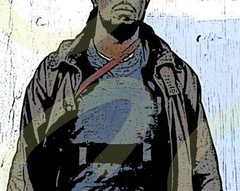 Sticker of Omar Little, Michael K. Williams, from HBO Series The Wire Pop Art Digital Painting