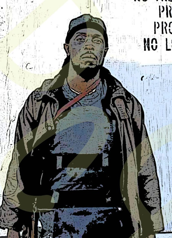 Omar Little Character Poster The Wire Michael K Williams