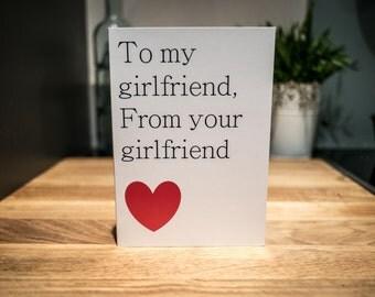 Lesbian Blank 'Girlfriend' Card, LGBT