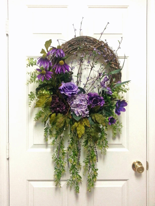 Gorgeous Purple Floral Wreath Summer Wreaths For Door Summer