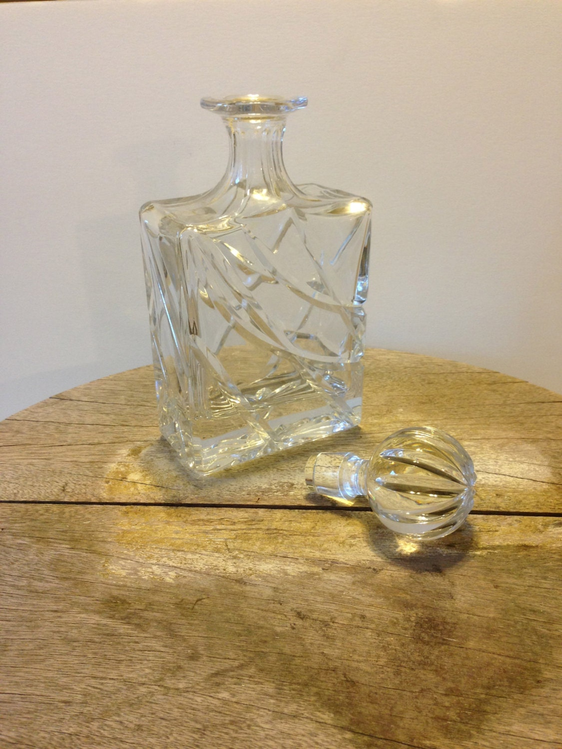 Ofnah Crystal Decanter Made in Poland