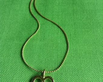 Vintage Gold-tone Heart Pendant (Item 121M)