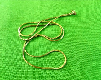 VintageLong  Gold-tone Chain Necklace (Item 774)