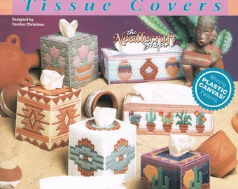 PLASTIC CANVAS Southwest Tissue Covers in Plastic Canvas Tissue Box Covers - The Needlecraft Shop