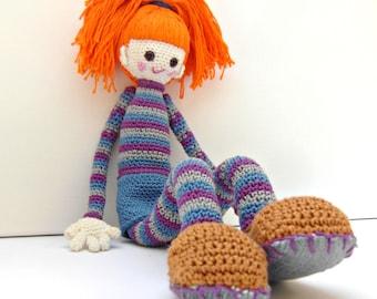 Crochet Doll Pattern - Bel, Cute Crochet Amigurumi Girl, Crochet Pattern