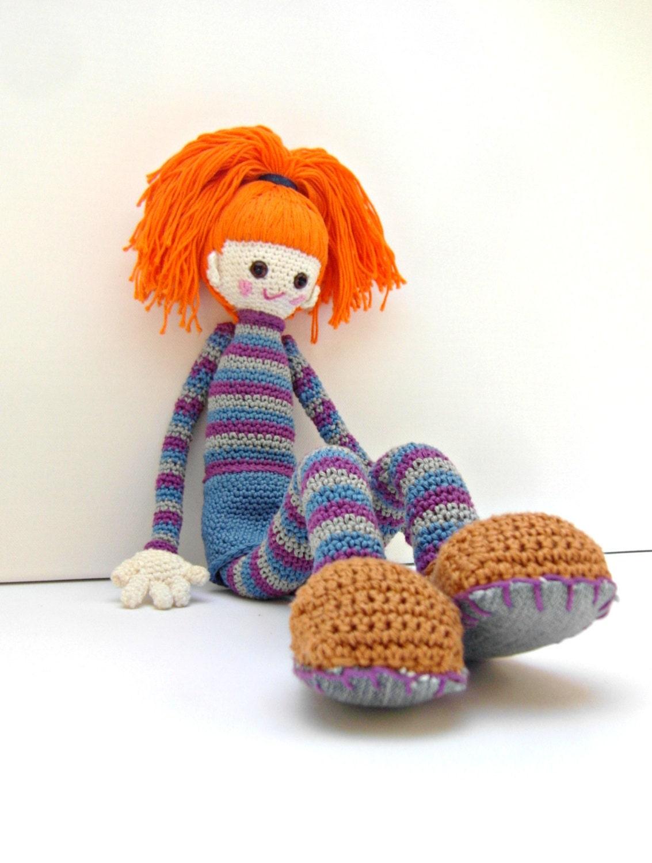 Crochet Doll Pattern Bel Cute Crochet Amigurumi Girl