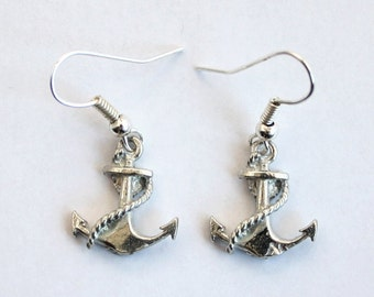 Ship's Anchor Earrings by Hoardersworld in Fine English Pewter, Gift Boxed (RO)