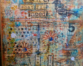 Take What You Need Art Card