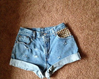 High waisted shorts studded ALL sizes