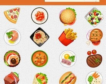 Fast food Clipart. Fast Food Images. Food Illustration. Fast Food Graphic Images 197