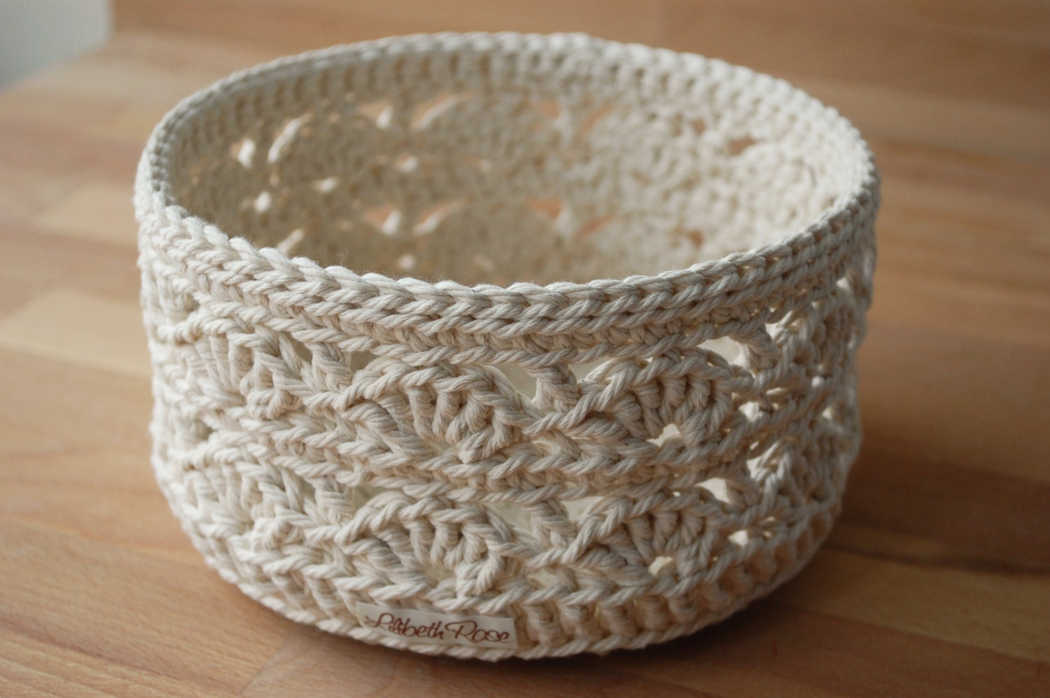 Free crochet lace basket patterns dancox for lace crochet basket large bankloansurffo Image collections