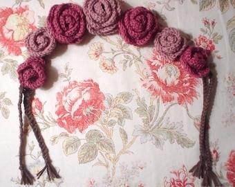 Crochet flower crown - Pink