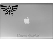Zelda Crest vinyl decal macbook laptop window sticker
