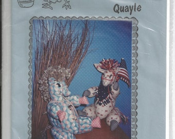 Donkey Sewing Pattern - The Balky Burro by The Country Quayle - Stuffed Donkey Pattern